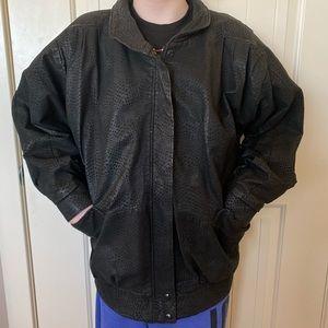 VINTAGE Black Genuine Leather 80's Jacket